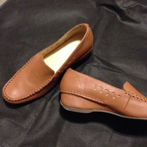 Women's leather loafers